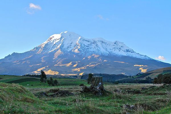 Volcan Chimborazo depuis San Juan