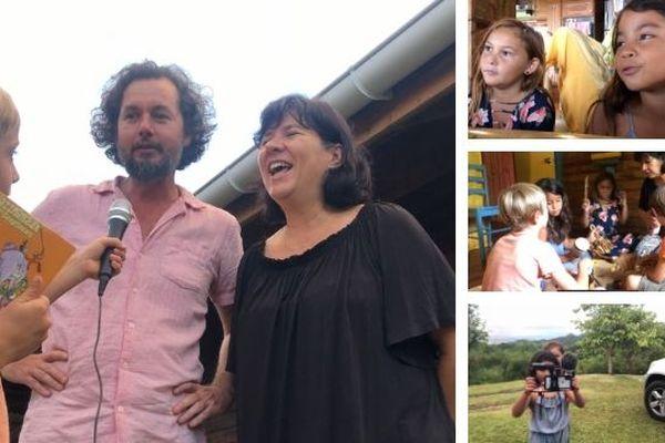 Les Kidreporters à la rencontre des Comptineurs de Tahiti