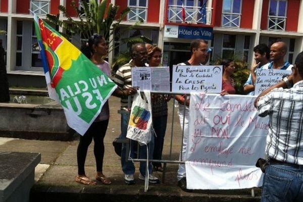 Grève employés communaux Saint-Benoît