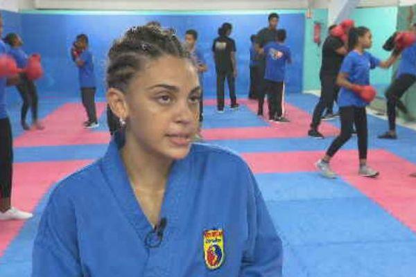 Sarah-Lysa Hubert, double championne de France cadette Vovinam 2019
