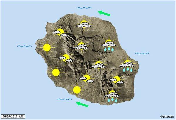 Carte météo mercredi 20 septembre 2017