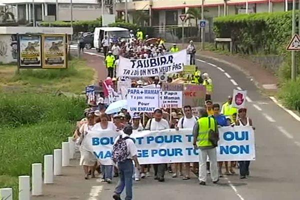 Marche de protestation mariage homosexuel