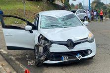 L'état de la voiture impliquée dans l'accident avec les cyclistes.