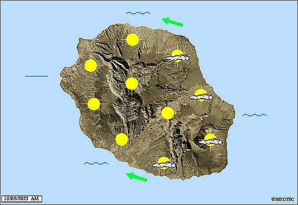 Carte météo 10 mai 2021