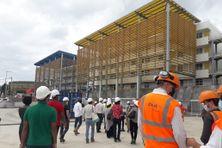 Le chantier du Lycée Schoelcher avance à grand pas. La rentrée est prévue pour septembre 2021.