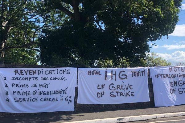 Début de grève à l'hôtel Intercontinental Tahiti
