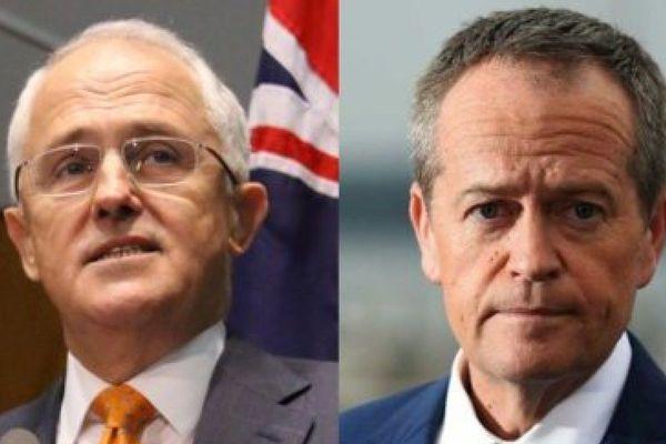Australie Turnbull et Shorten