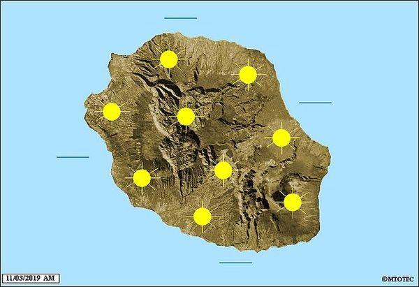 Carte météo du 11 mars 2019