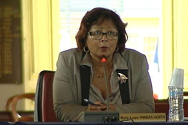 Marie-Laure Phinéra, maire de Cayenne