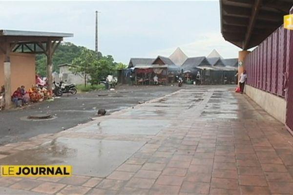 Les alentours du marché de Mamoudzou