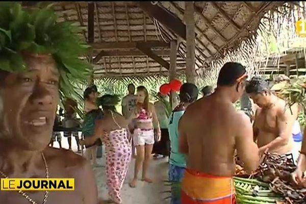 Jour de l'an sur le motu à Bora Bora