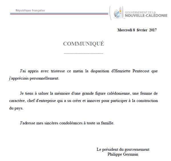communiqué Philippe Germain