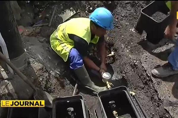 Les compteurs d'eau s'implantent à Pirae