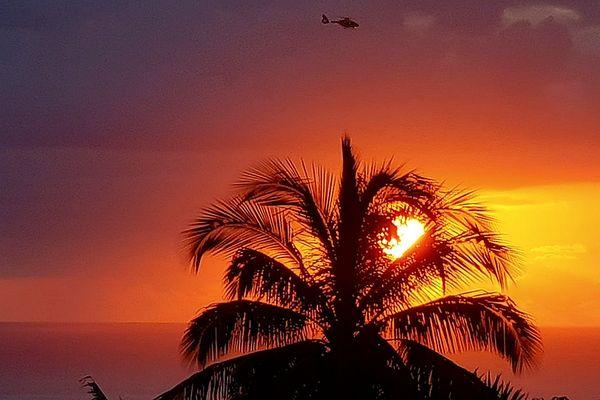 Soleil couchant sur Saint-Leu 22 septembre 2021