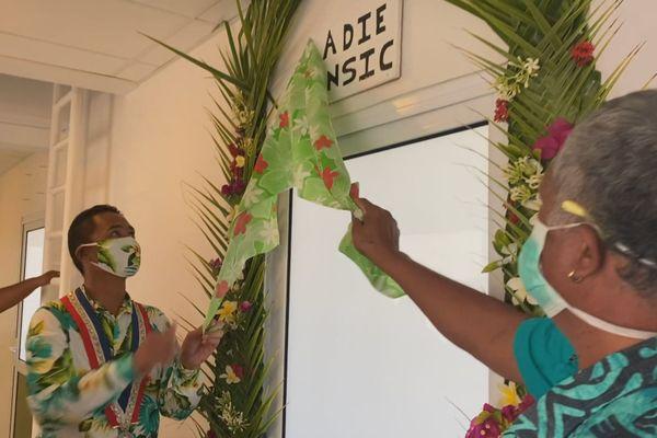 Inauguration de l'antenne ANSIC à Amanu