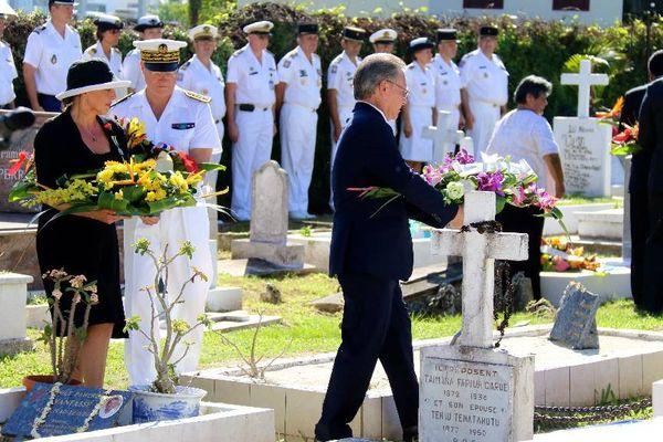 La cérémonie s'est déroulée au cimetière e l'Uranie