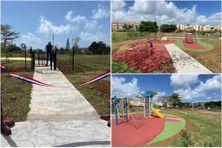 Inauguration du parc de jeux et de loisirs de Beauséjour à Trinité (avril 2021)