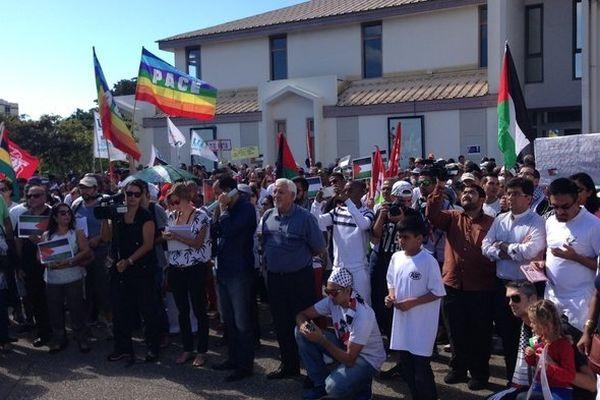 rassemblement en faveur de la Palestine