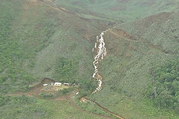 Autre région fortement touchée le grand sud de la Nouvelle-Calédonie