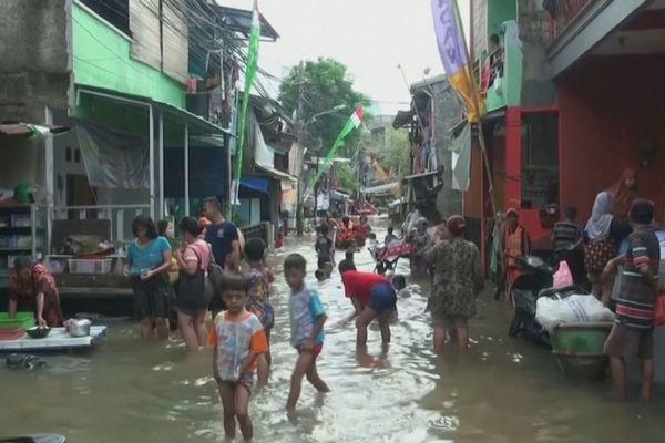 Indonésie inondations Jakarta