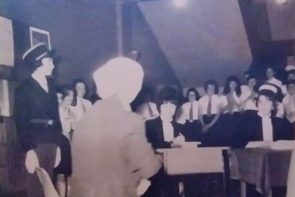 Marie-France à l'école