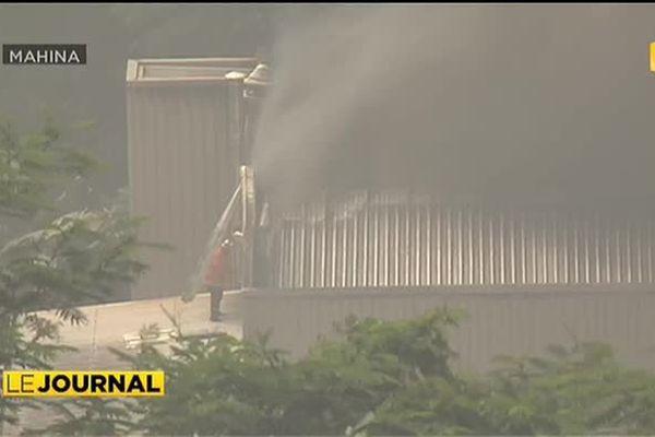Le 1er étage de la Charcuterie du Pacifique ravagé par les flammes