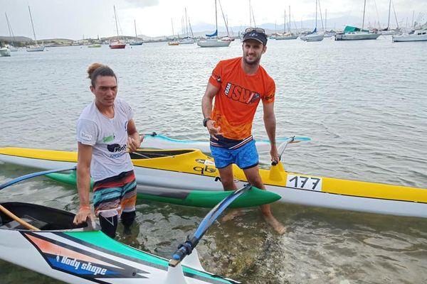 Championnat V1 marathon, ALbert Mainguet et Titoutan Puyo, Nouméa, 11 juillet 2020