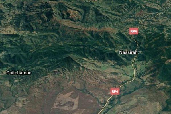 Carte satellite du col de Nassirah
