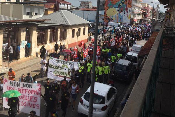 Mobilisation à Cayenne 5 12 19