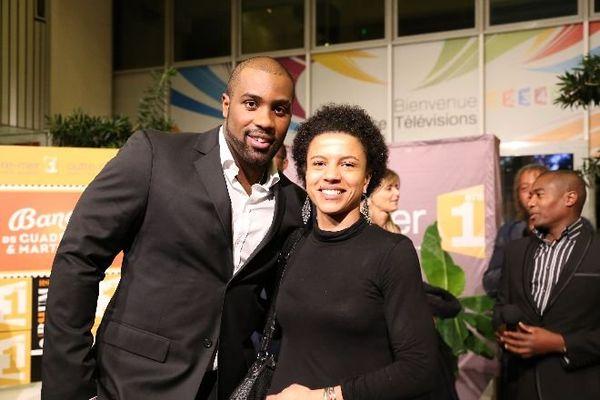 Teddy Riner et Maïté Koda, journaliste à la1ere.fr et Radio Outre-mer 1ère