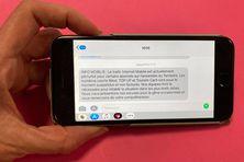 Reçu jeudi 5 août, en fin de matinée, ce SMS de l'OPT prévenant de perturbations.