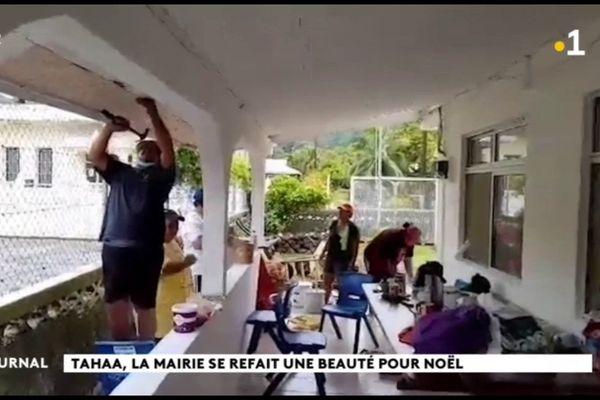 A Tahaa, les bénévoles se mobilisent pour embellir leur mairie
