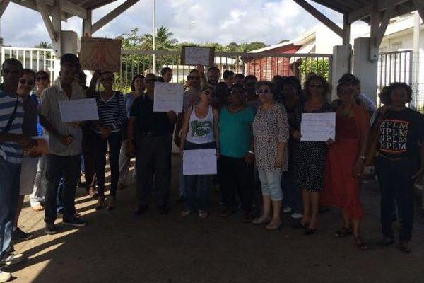 Les enseignants du collège Félix Eboué le  01/02/2016