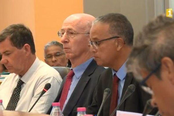 Cyrille Melchior, président du département, février 2018