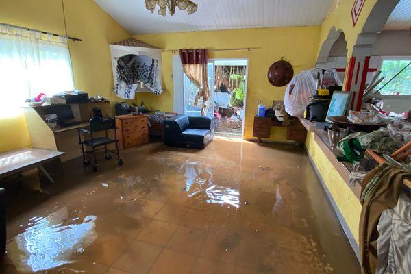 Lucas : maison sinistrée après le passage de la dépression à Dumbéa