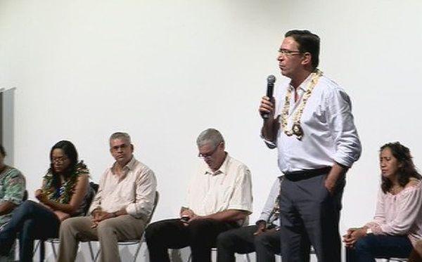 Philippe Gomès meeting au Mont-Dore entre deux tours élections législatives (juin 2017)