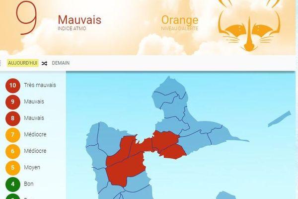 Alerte orange qualité de l'air