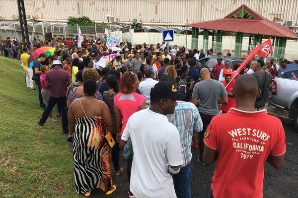 Mobilisation des enseignants à Sainte-Marie
