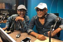 Les chanteurs du groupe Perfecta, Paulo Albin et Marius Priam, dans les studios de Martinique 1ère.