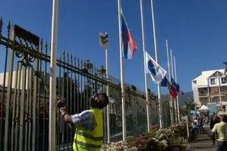 Mise en berne drapeaux Saint-Denis gaza