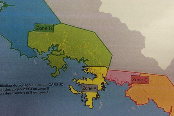 Carsud nouvelles zones tarifaires