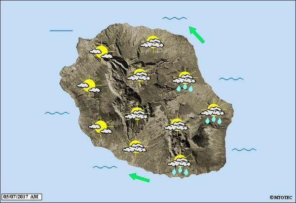 Carte météo 6 juillet 2017