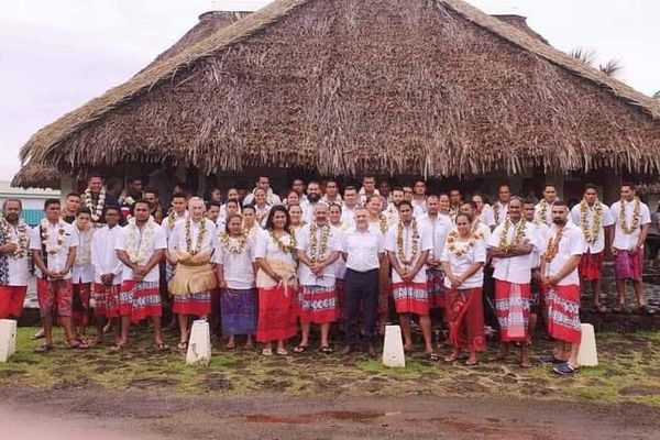 Team Wallis et Futuna pour les jeux des Samoa 2019