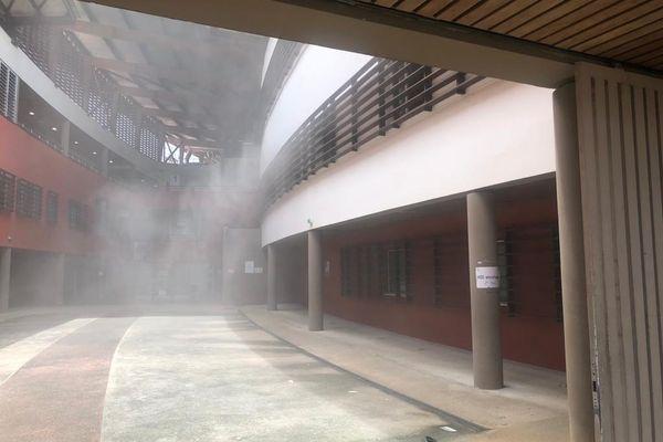 Incendie au CHC