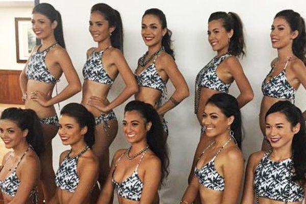 Miss Tahiti 2017 : les 10 candidates en maillot