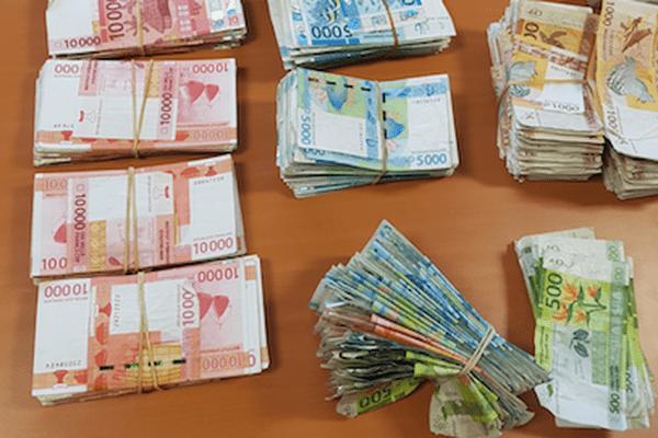 Argent liquide saisi fraude fiscale (coup de filet du 29 novembre 2017)