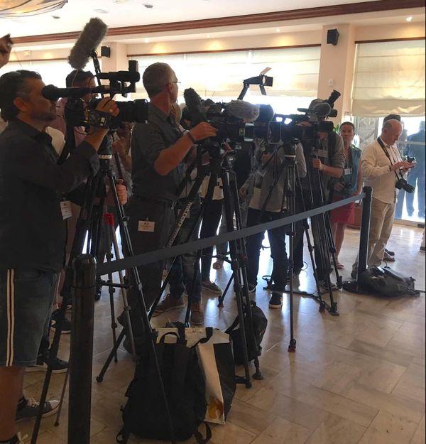 Référendum 2018, présence de la presse