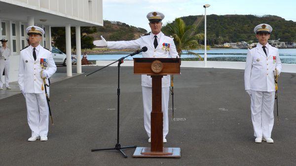 Prise de commandement Bullier Bechler base navale Chaleix 31 aout 2017