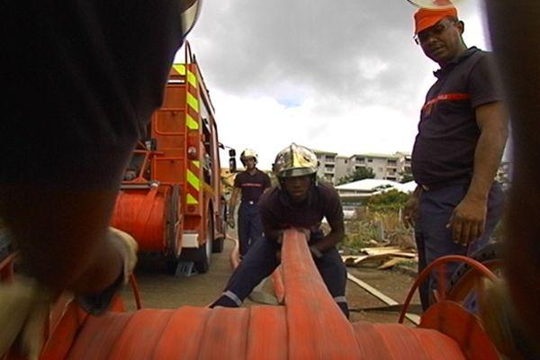 pompiers à Rivière-Salée