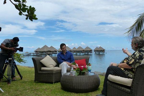Laurent Gerra à Tahiti, et sur Polynésie 1ère TV - radio - internet